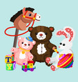 colorful and lovely toys vector image vector image