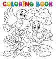 coloring book bird theme 2 vector image vector image