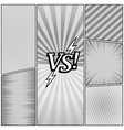 comic book monochrome background vector image vector image