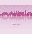 constanta skyline in purple radiant orchid vector image vector image