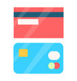 credit cards collection object vector image vector image