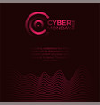 cyber monday promotional poster with letter c vector image
