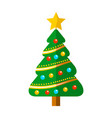 decorated christmas tree with balls vector image vector image