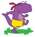 Dinosaur Happy Run vector image vector image
