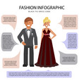 dress style infographic vector image
