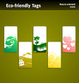 eco sales tags vector image vector image