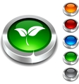 Ecology 3d button vector