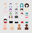 elements to create the character of the girl vector image vector image