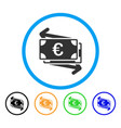 euro money transfer rounded icon vector image vector image