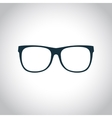 Eyeglasses black icon vector image vector image