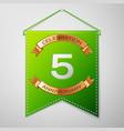 five years anniversary celebration design vector image vector image