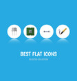 flat icon electronics set of repair resistor vector image vector image