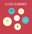flat icons faucet bailer tray of eggs and other vector image vector image