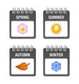 Four season icons vector image vector image