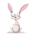 funny cartoon rabbit vector image
