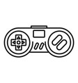 gadget game controller icon outline style vector image vector image