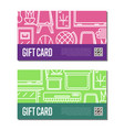 gift voucher set for classroom furniture vector image vector image