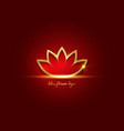 golden lotus flower or flower life sacred logo vector image