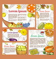 greeting posters and banners with symbols of vector image