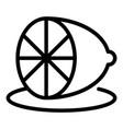 half kitchen lemon icon outline style vector image vector image