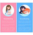 healthy breastfeeding informative banners set vector image vector image