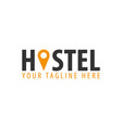hostel logo hotel logo travel rest place vector image
