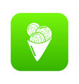 ice cream icon green vector image vector image
