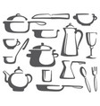 kitchen ware vector image vector image