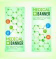 medicine and diagnosis banners set vector image vector image