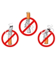 No smoking cartoon sign vector image vector image