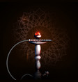 on a dark background a hookah vector image