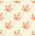 pattern with orange maple leaves vector image