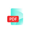 pdf format icon gradient flat style bright vector image vector image