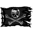 pirate flag with a skull vector image
