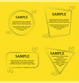 quote outline background set vector image vector image