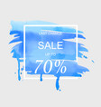 sale up to 70 percent off sign over art brush vector image vector image