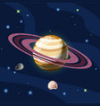 saturn cartoon planet saturn vector image vector image