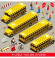School Bus Vehicle Isometric vector image