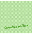 seamless pattern lines green with text vector image vector image
