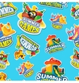 seamless pattern of summer games vector image