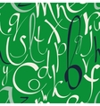 Seamless pattern with hand drawn alphabet vector image vector image