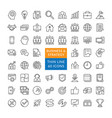 set business strategy icons vector image