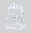 set of crowns and wreaths on the brides head vector image