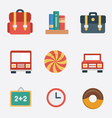 set of flat icons vector image vector image