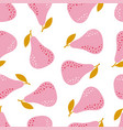 simple pear pattern isolated on white background vector image vector image