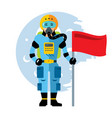 space astronaut flat style colorful vector image vector image