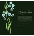 sprig of forget-me vector image vector image