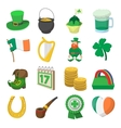 St Patrick Day cartoon icons vector image vector image