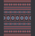 tribal ethnic seamless pattern geometric design vector image
