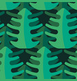 tropical leaf seamless pattern jungle tropical vector image